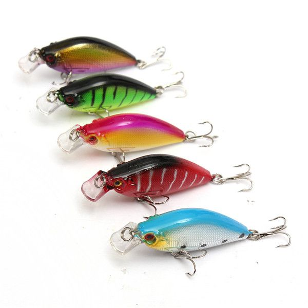5pcs/lot fishing lures 6.5CM/8.4G carp fishing bait wobbler pesca fish pesca minnow bass lure crankbait trout tackle