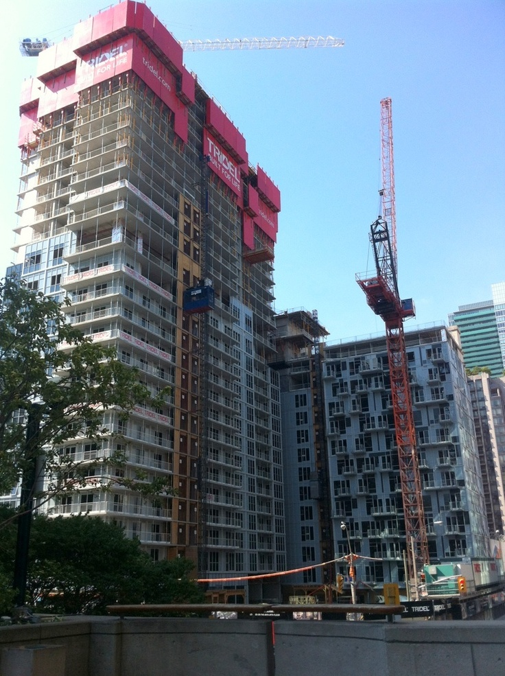 300 Front Street West, August 22, 2012. Downtown Toronto condo at Front and John.
