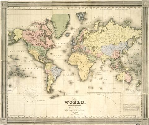 Free printable poster size world map