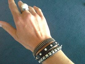 Stilen Black cuff $35   Pearl ring now $25