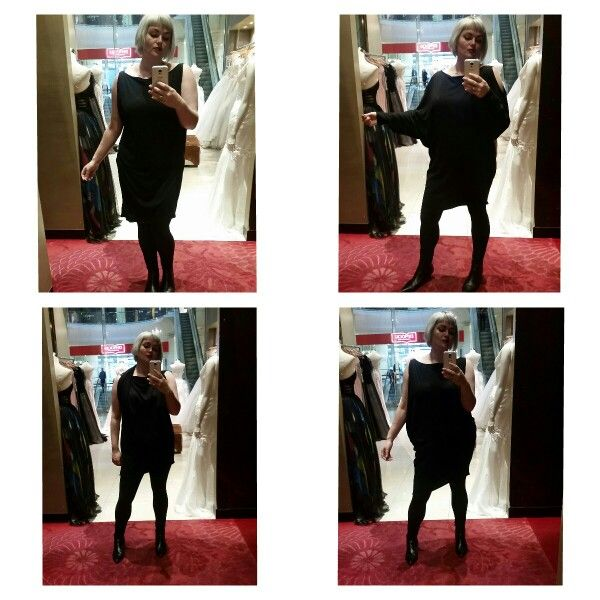 One comfy black jersey dress, so many ways... Made on request email meleeamelbourne@gmail.com