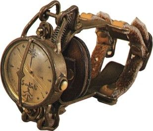 steampunk: Haruo Suekichi, Steampunk Wrist, Steampunk Fashion, Steampunk Stuff, Wrist Watches, Steam Punk, Steampunk Gadgets, Steampunk Watches, Steampunk Inspiration