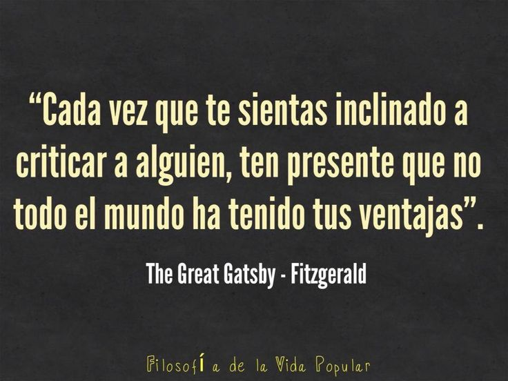 Gracias a Fitzgerald por Gatsby.