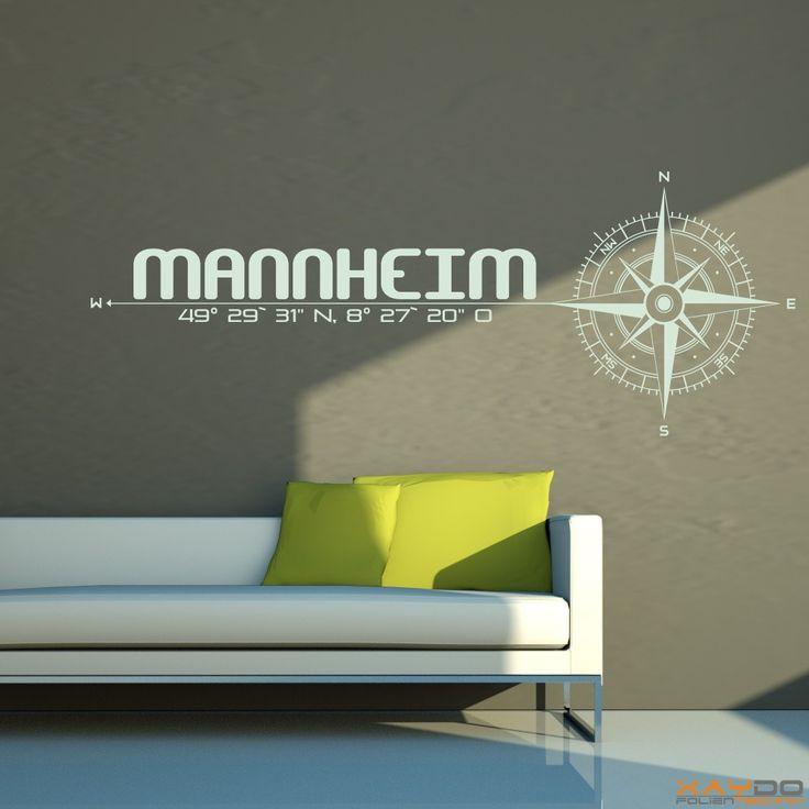 "Wandtattoo ""Stadt Mannheim"" - ab 19,95 € | Xaydo Folientechnik"