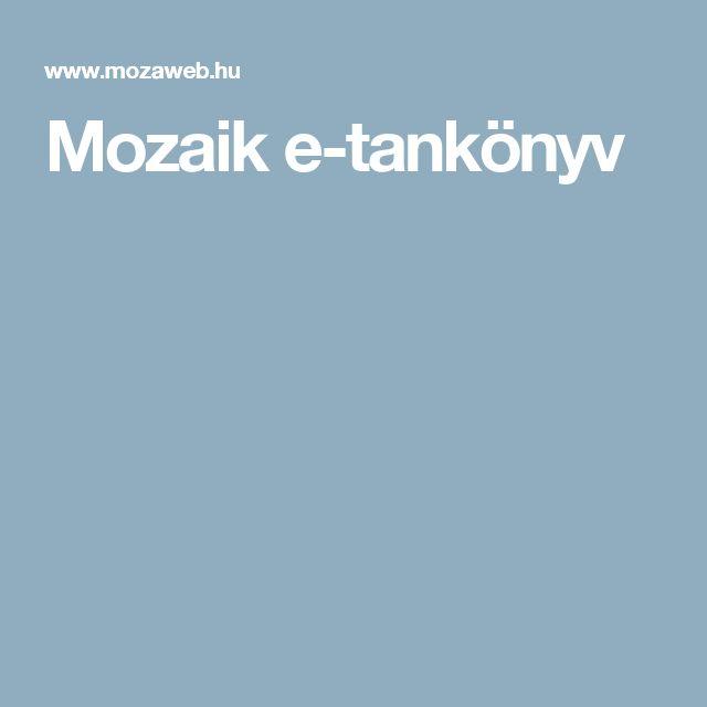 Mozaik e-tankönyv