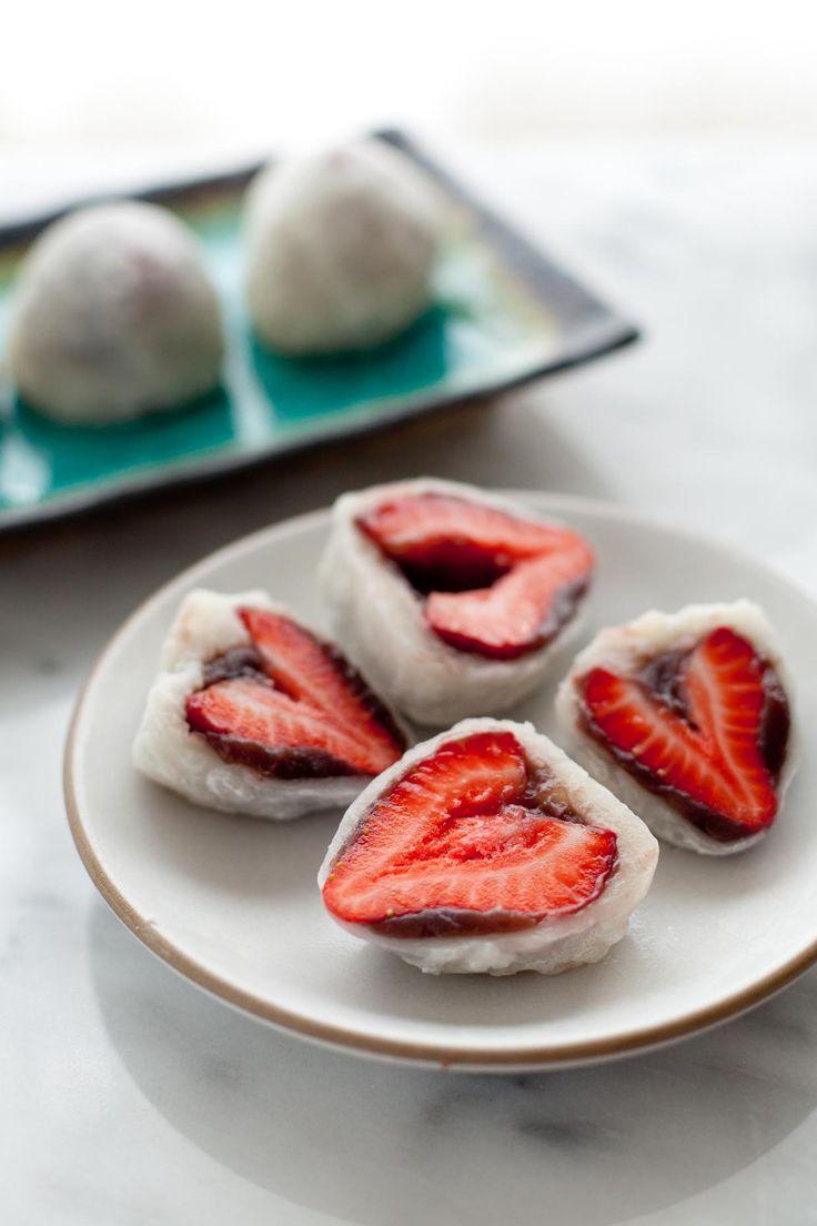 Strawberry Mochi Daifuku by @snixykitchen