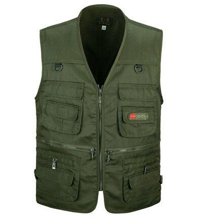 Summer Men's Photographer Vest Multi-Pockets Cheap Vests Outdoor Shooting Hunting Waistcoat Vest Walking Travel Vest L-3XL