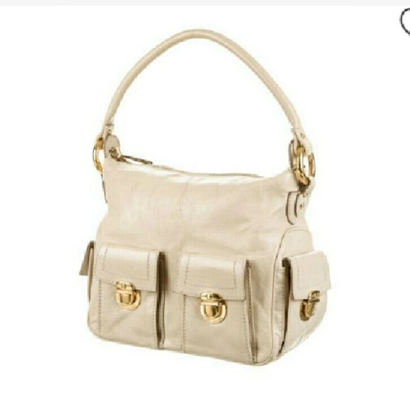 Marc Jacobs Bags - Marc Jacobs Cream Calf Leather Hobo