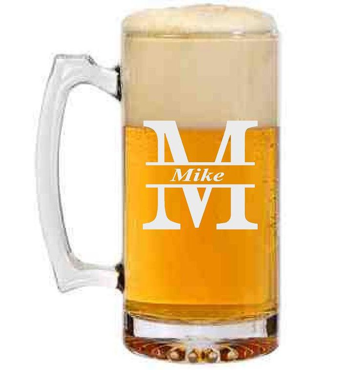 Personalized Beer Mug with Initial and Name by CMpersonalgifts on Etsy