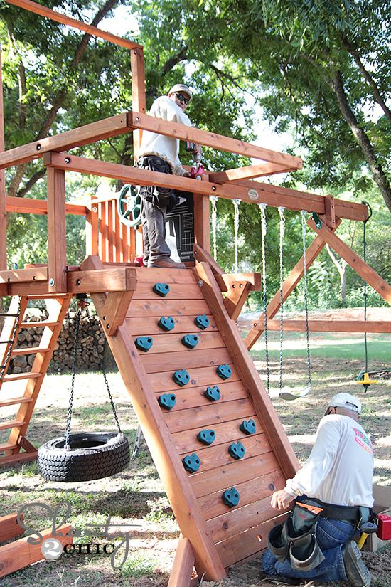 83 best images about kids climbing frames play areas for Shanty 2 chic porch swing