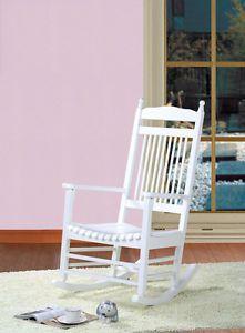 Schaukelstuhl Marissa Hartholz weiß Stillstuhl Antik Sessel NEU