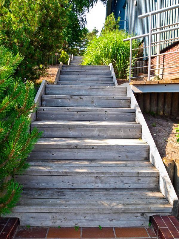 98 besten Außenanlage\/Garten Bilder auf Pinterest Garten - gartentreppe holz selber bauen anleitung