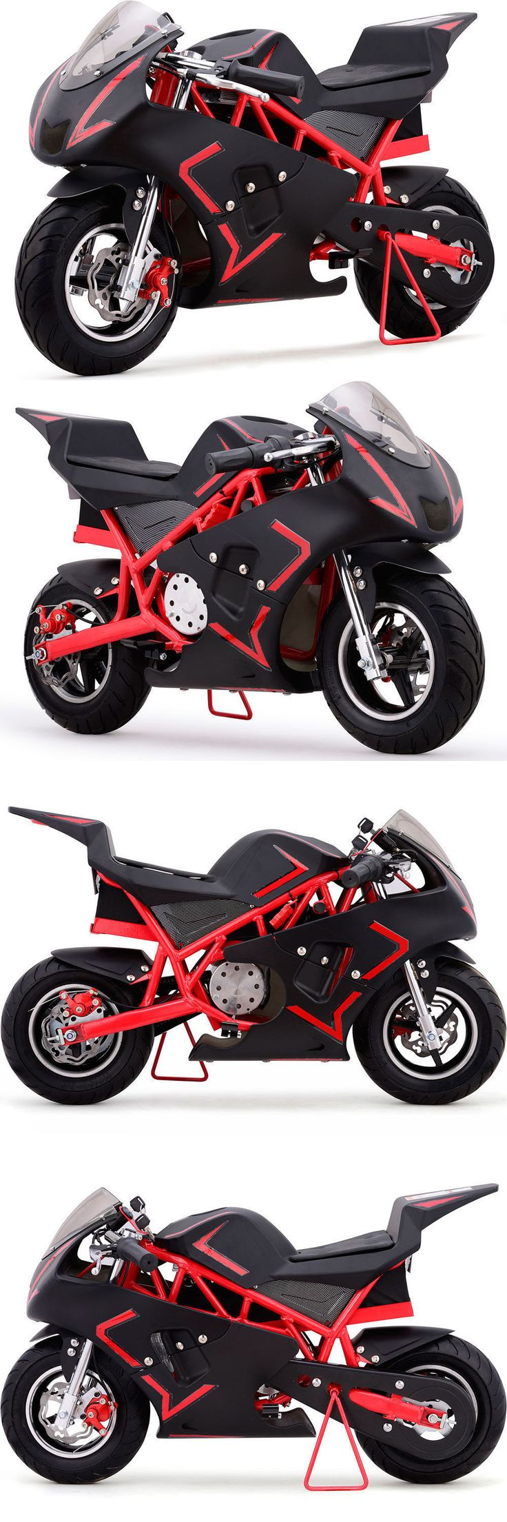 Gas Scooters 75211: Pocket Bike Mini Gas Powered 40Cc Ride On Red Motorcycle Boys Girls Youth New -> BUY IT NOW ONLY: $364.95 on eBay!