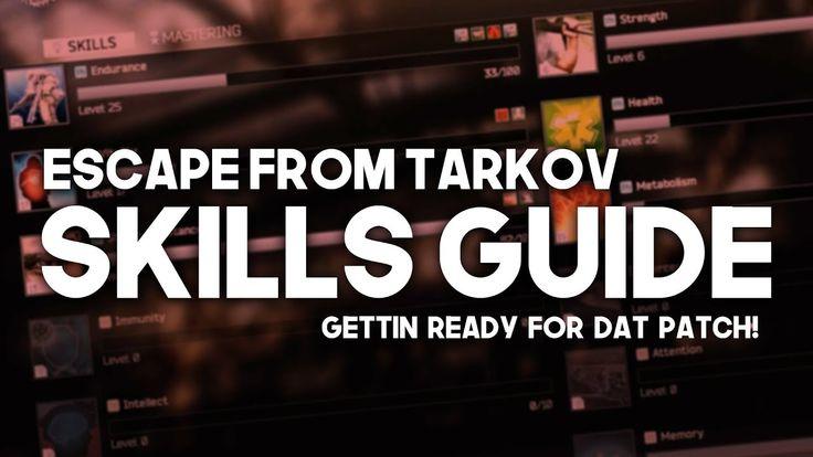 SKILLS GUIDE Escape From Tarkov in 2020 Skills, Escape
