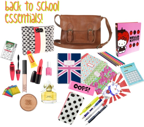 """""""Back to School Essentials ! (: (beauty)"""" by sobetsymaybe ❤ liked on Polyvore"""