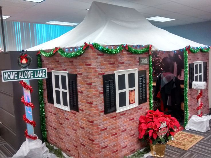 lovely office cubicle christmas decorating ideas | Home Alone Office Cubicle | Home alone christmas, Office ...