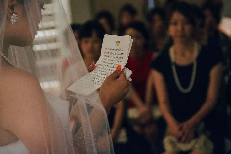 挙式での親御様に向けたお手紙。挙式は1日の中で一番大切な瞬間