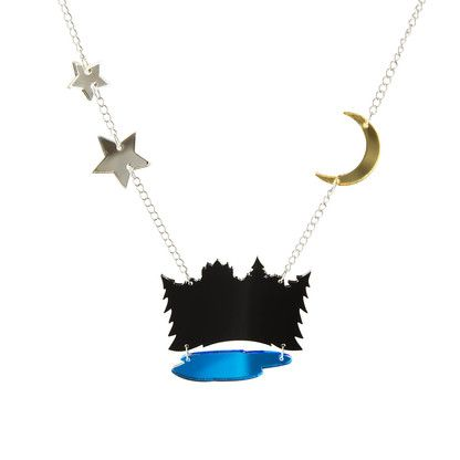 METSÄ Dark Forest long necklace by @KiviMeri. Made in Finland.