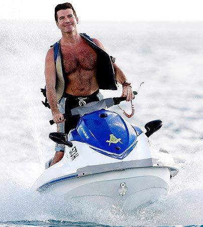 Everyone's favorite judge Simon Cowell on his jet-ski. It is pretty safe to say that he's a Freemason.