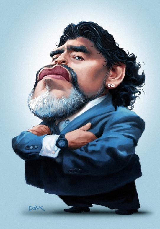 Diego Armando Maradona por  André Bethlem