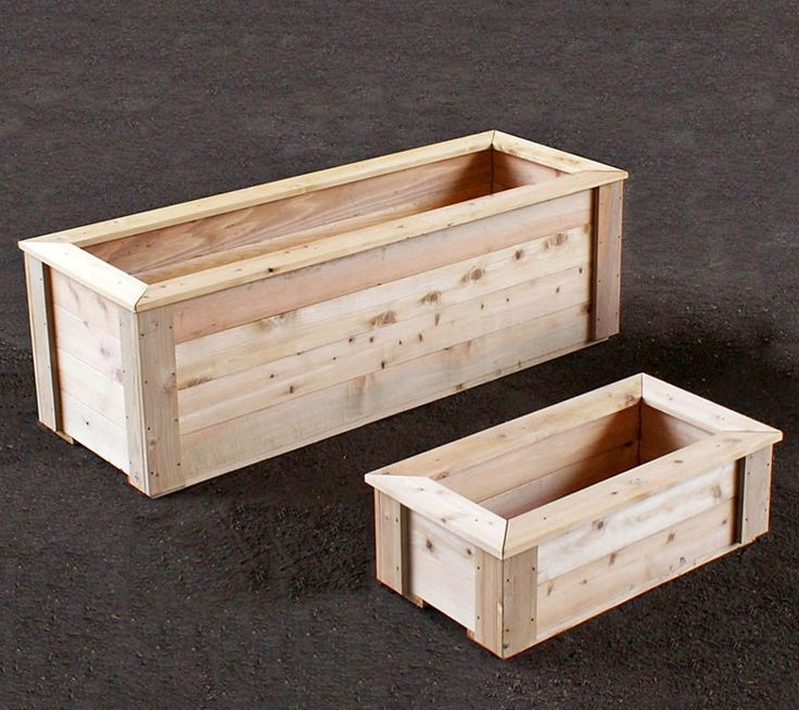 natural cedar planter boxes