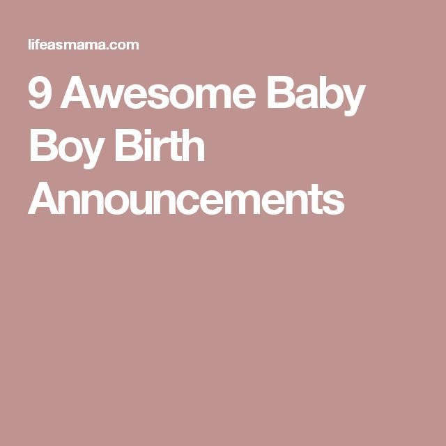 9 Awesome Baby Boy Birth Announcements