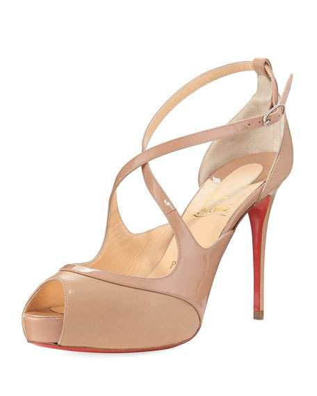 a17db13c553b Mirabella Strappy Patent Red Sole Sandal