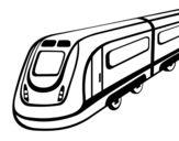 Dibujo de Tren de alta velocidad