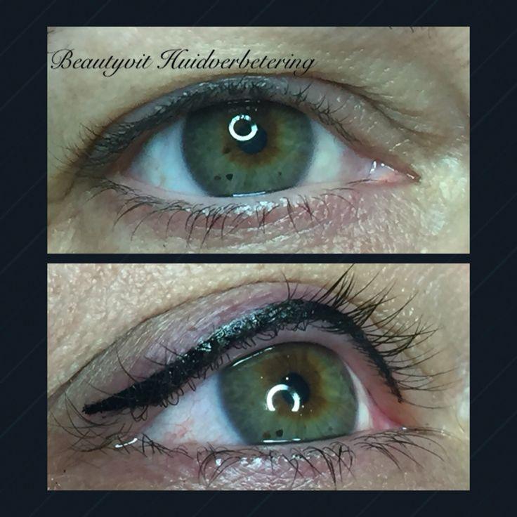 Pmu eyeliner boven en onder  met wing. Kijk op onze website voor uitgebreide informatie. http://www.beautyvit.nl/Specials/Permanente-make-up/