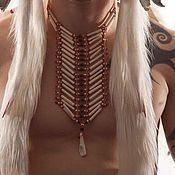 """Субкультуры ручной работы. Ярмарка Мастеров - ручная работа Индейское ожерелье-чокер """"LUTA"""". Handmade."""