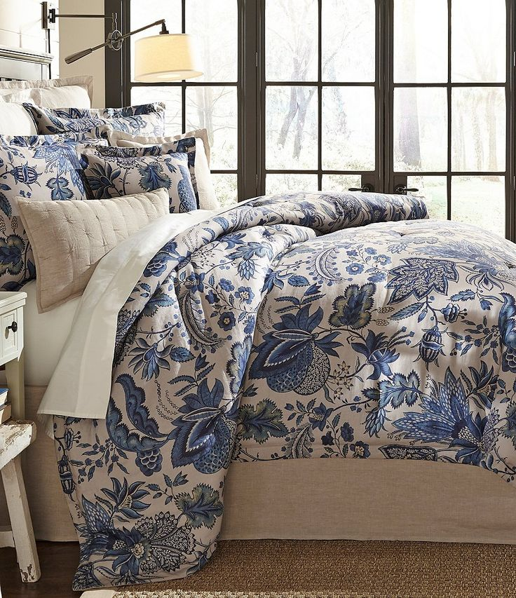 Southern Living Bedding : Southern Living Belmont Floral Jacobean Linen & Sateen ...