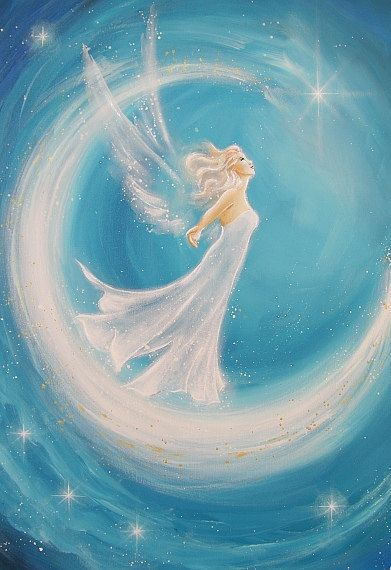 "Limited angel art photo ""this is my dream"", modern angel painting, artwork, acrylics, Engelbild, moderne Engel, Bild"