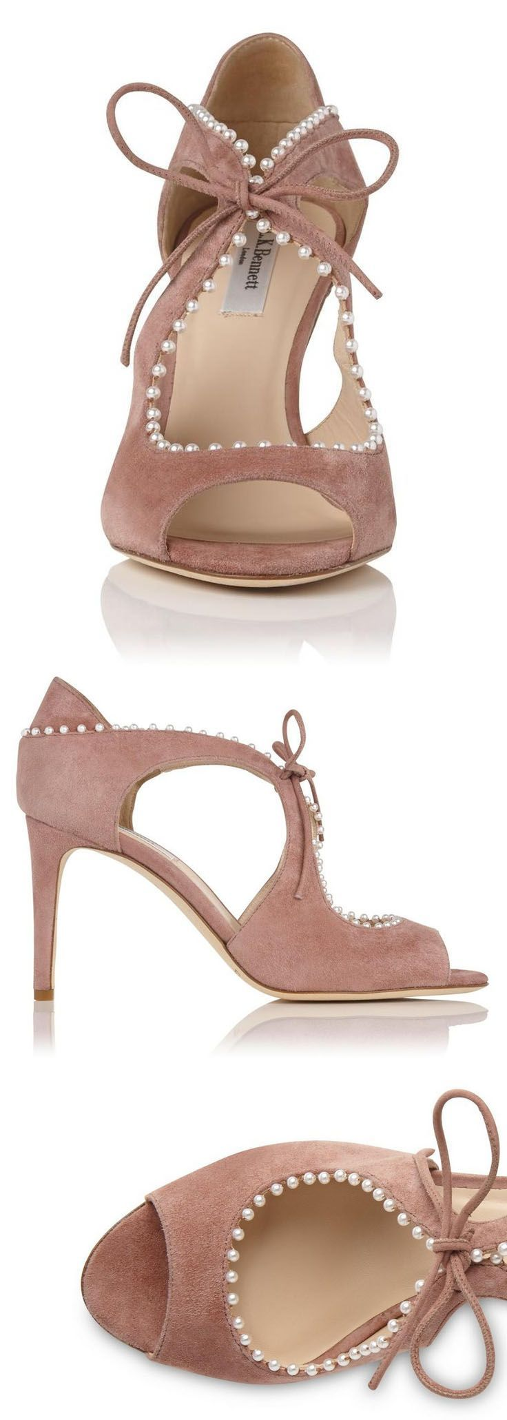 L.K. Bennett Nude Shoes, with little faux Pearl. Evoke a flamenco spirit with Ellena. This sultry cut-out sandal, in pink suede, features a playful pom pom trim, lending an artisanal touch to eveningwear. Let the vertiginous heels take printed, brocade dresses to new heights. Christmas Gifts for her. #christmas #giftsforher #fashion #presents #shoes #affiliatelink #shoeaddict