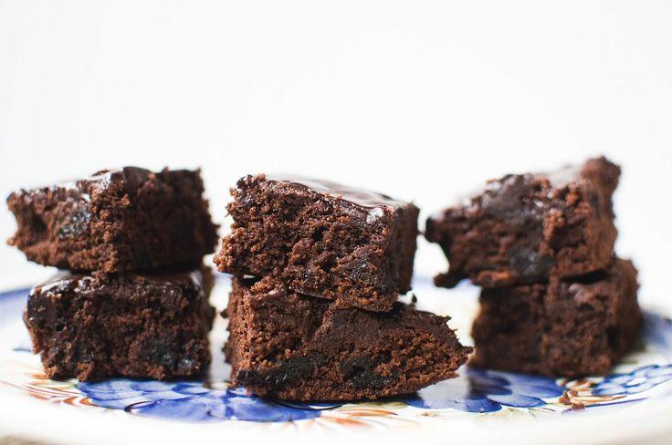 brownie ze śliwką