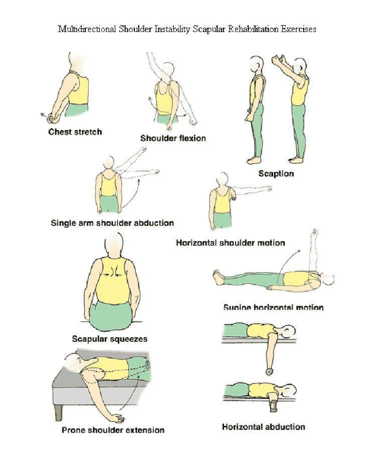 Multidirectional shoulder instability scapular rehab exercises