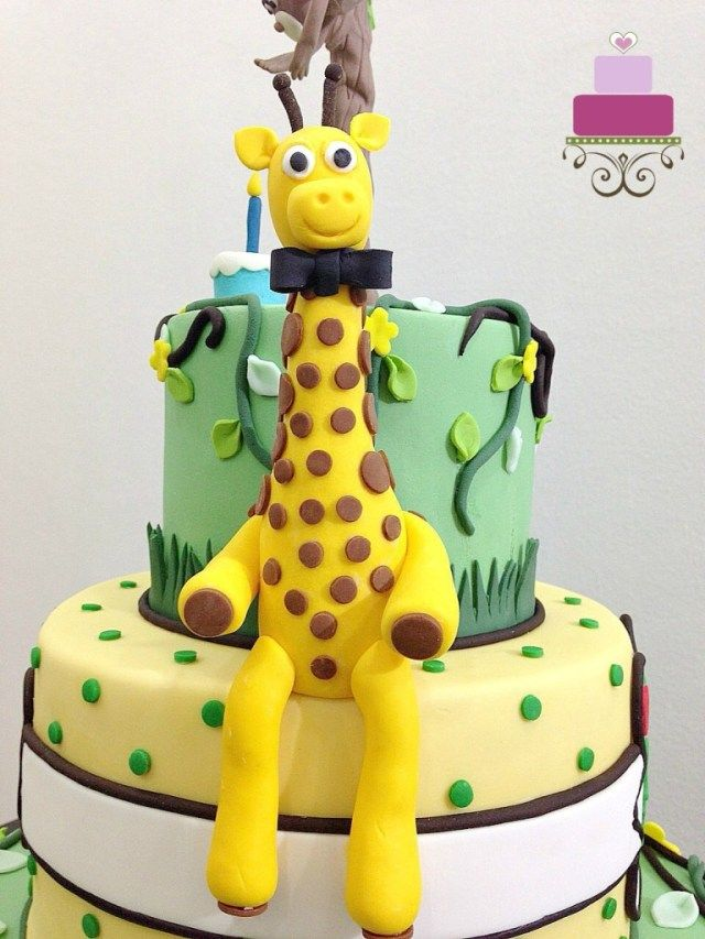 23 Wonderful Picture Of Animal Birthday Cakes Jungle Animals Cake Decorating Guide BirthdayCakeToppers