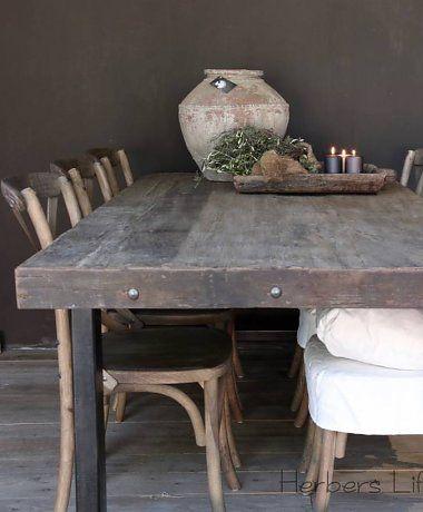 25 beste idee n over ijzeren tafel op pinterest staal for Tafel ontwerp