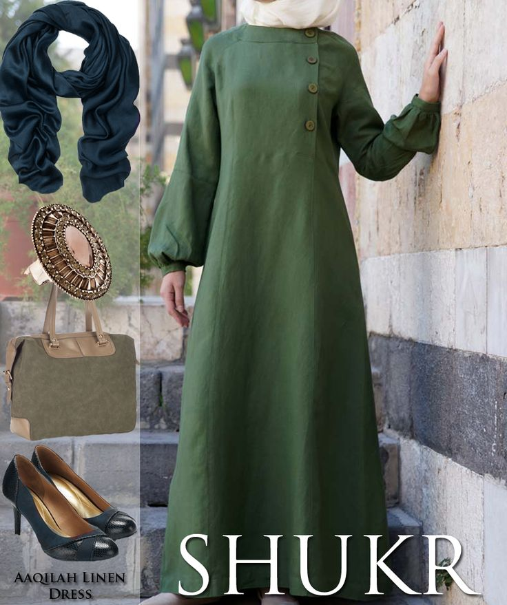 Share SHUKR's Inspiration! Aaqilah Linen Dress