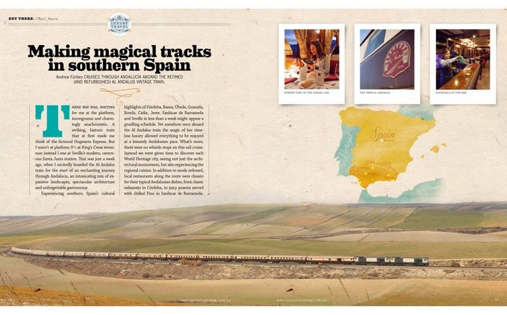 Click-through for full article - Andrew Forbes Al Andalus Train in Andalucia - Luxury Travel Australia Magazine