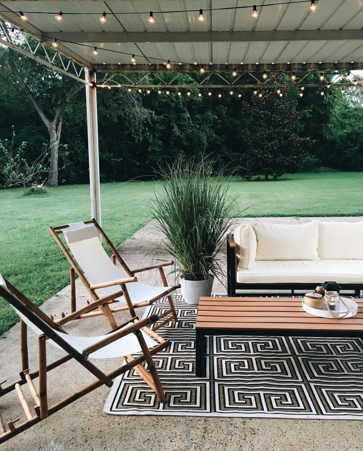 The patio space for entertaining and a big backyard for summer parties and fall bonfires.