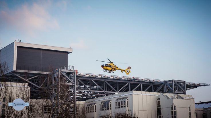 Einsatz - Der Rettungshubschrauber startet vom Straubinger Klinikum.  The rescue helicopter launches from the medical center Straubing.