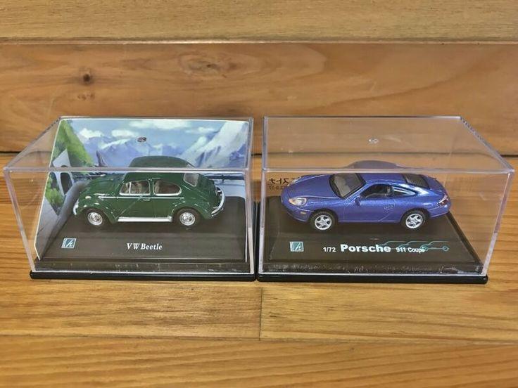 👉172 Cararama VW Beetle  Porsche 911 Coupe Diecast Model
