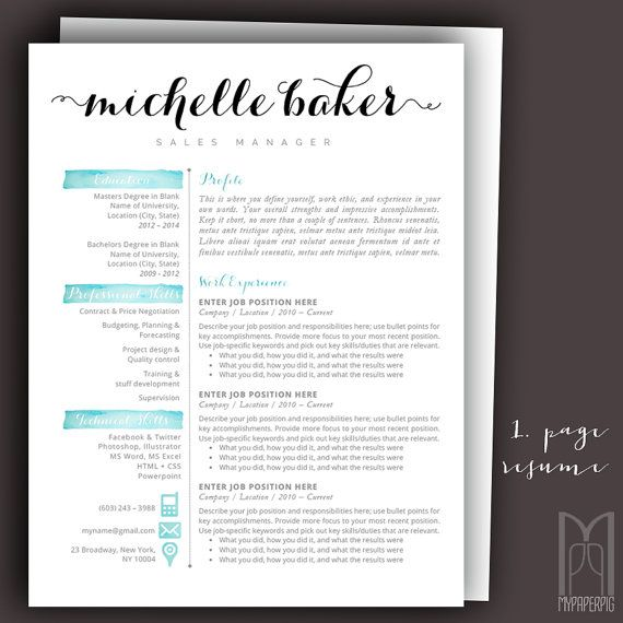 15 best Modern \ Creative RESUME TEMPLATES -- (CUSTOM NAME HEADER - resume header template