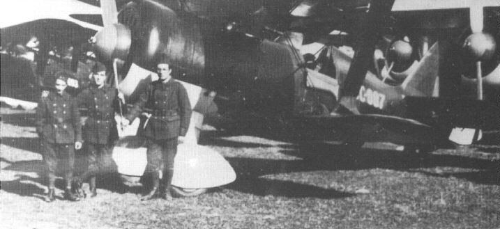 Polikarpov I-15bis Superchato de la Aviación republicana, con el código CC-087.