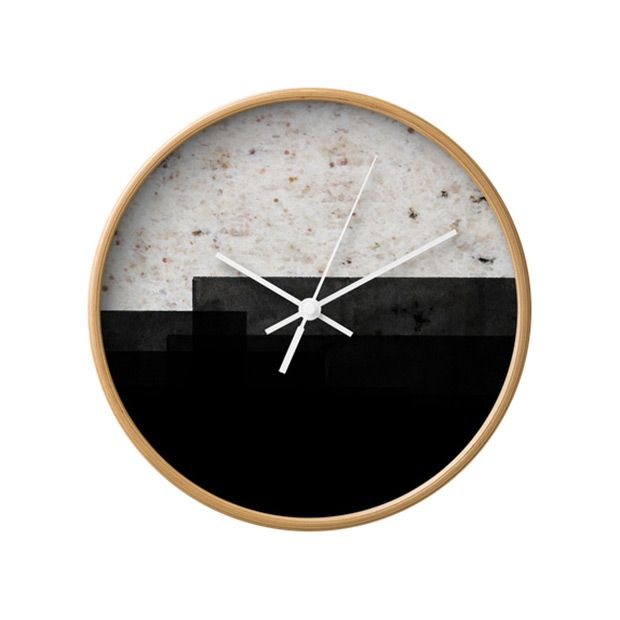 the time stamp wall clock offers a truly look a accent that tells time with a chic designer twist