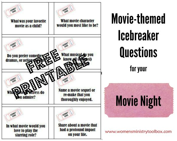 andrea jovine sunglasses Movie themed Icebreaker Questions   Perfect for your next Ladies Night Out or Women  39 s Ministry Movie Night  From Women  39 s Ministry Toolbox
