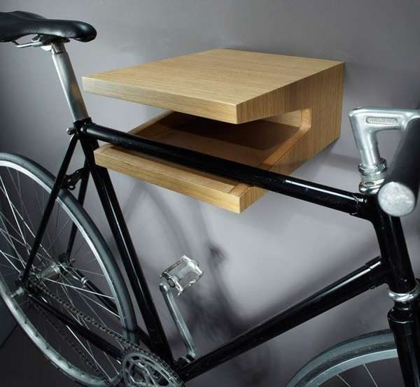 Molletta Bike - Storing your bike in a confined space can be frustrating but the Molletta bike shelf can help you do it with ease. The minimalist shelf features tw...