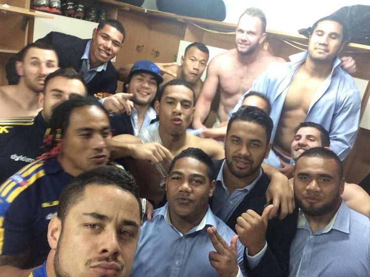 Selfie after a freaking awesome comeback to best Manly 22-12 on 22.8.14...go you bloody beauties ... From Jarryd Hayne's FB