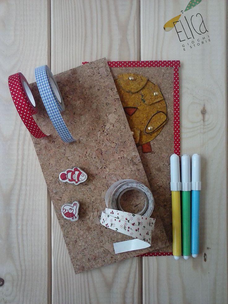 Lavagnetta in sughero, idee creative per bambini