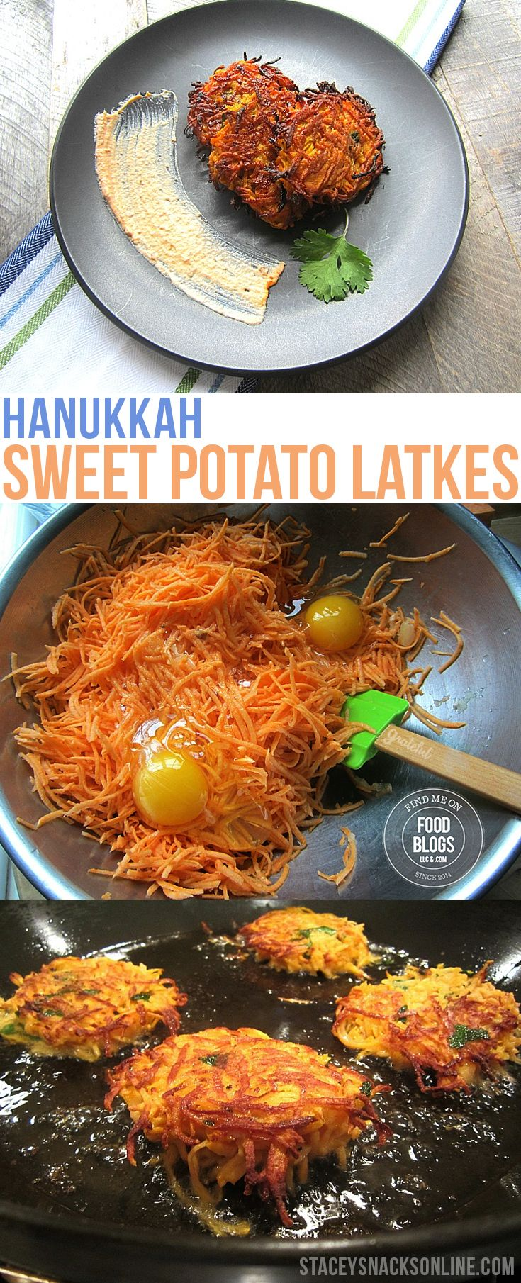 Hanukkah Sweet Potato Latkes Recipe @FoodBlogs.com Celebrate Hanukkah the right way!